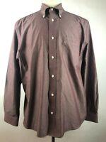 Eddie Bauer Multicolor Striped Wrinkle Resistant CottonDress Shirt Mens Size L