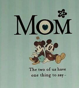 Unused Greeting Card & Envelope Happy Birthday MOM Disney Mickey/ Minnie Die Cut
