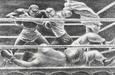 Martin Fletcher (American 1904-1979) Lithograph Lullaby, Boxing, Signed