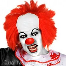 Halloween IT CLOWN WIG Pennywise Fancy Dress Costume Red Hair Horror Adults Kids