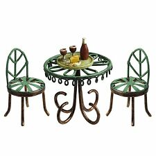 Bistro Table and Chairs Miniatures With Wine Tray(470600) for Fairy Garden
