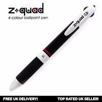 "Zebra Z-Quad Retractable Ballpoint Pen - Four Colour ""4 in 1"" - 1.0mm - Single"