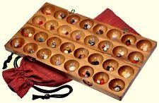 Hus Bao Kalaha Edelsteinspiel Bohnenspiel Muschelspiel Mancala aus Samena Holz