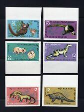 Vietnam 1965 complete Wild Animals set IMPERF Michel #369-374 clean MNH