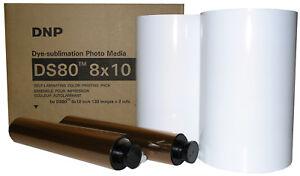 """DNP DS80 8x10"""" Media Kit (DS80PK810), 2 rolls of paper & ribbon per box,"""