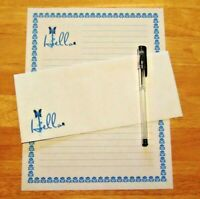 Hello Greeting Stationery 12 Sheets 6 Envelopes - Lined Stationary