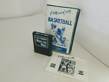 NEW ONE ON ONE BASKETBALL for Colecovision CIB W/Copied Manual Telegames Box P59