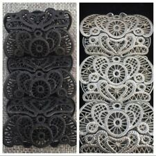 Metal Lace Flexible Cuff Bracelets Set