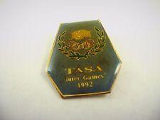 Collectible 1992 Lapel Pin: TASA Inter Games Olympics Handshake Design