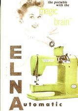 POST CARD OF MAGAZINE ADVERTISEMENT FOR ELAN SEWING MACHINES