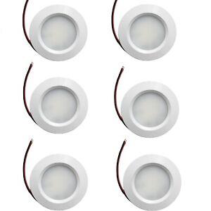LED Spot Lights 12V 24V Dimmable Caravan Boat White Recessed Downlight Pack of 6