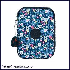 New Kipling 100 Pens Pen Case Zip Around in Bustling Petals Floral #180704-375