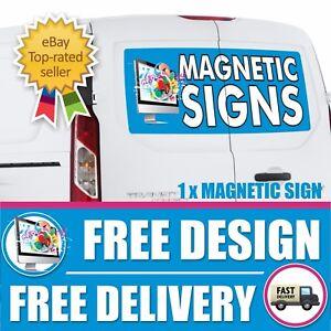 1 x MAGNETIC SIGN MOTORWAY GRADE VEHICLE, VAN, CAR FULL COLOUR PRINTED MAGNETIC