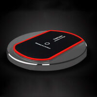 Qi Standard Wireless Phone Charger Charging Pads for iPhone Samsung - Black
