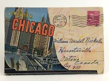 Greater Chicago Illinois Skyline Souvenir Folder Photos Posted Post Card H803