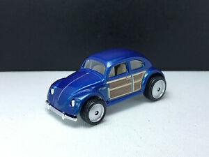 Custom Rubber wheels Hot wheels Vw Volkswagen Beetle Custom real riders loose