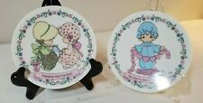 "2 Precious Moments by Enesco 4"" Mini Plates 1 has small chip; 1 has no damage"