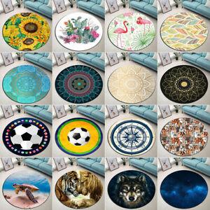 Abstract Mandala Animal Pattern Bedroom Floor Mat Yoga Area Rug Kids Play Carpet