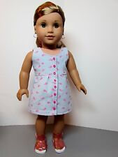 "Summer Dress with Mini Whales & Sandals for American Girl Dolls & 18"" Dolls"