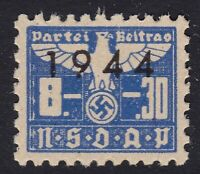 Stamp Germany Revenue WWII 1944 3rd Reich War Era Party Dues 08.30 MNH
