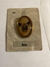 Akita Dog Pin Portraits