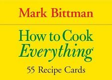 Cook's Cards: How to Cook Everything : 55 Recipe Cards by Mark Bittman (2006,...