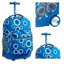 """Roller Wheeled Backpack School Book-Bag Rolling Luggage Travel Trolley Tote 18"""""""