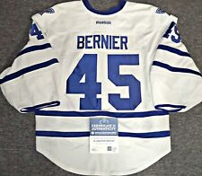 LEAFS/HOLO COA JONATHAN BERNIER AUTHENTIC GAME USED MAPLE LEAFS PRO 58 JERSEY