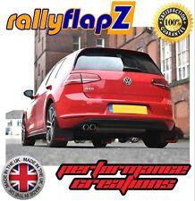 Mudflaps & Fixings to fit VW Golf Mk7 (all models) Black 4mm PVC - RF Logo Red