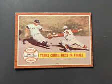 1962 Topps #236 World Series Game 5 Yanks Crush Reds EX+