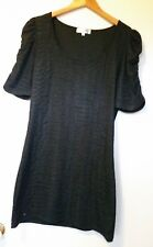 Girls  Cotton/Polyester Black Short Sleeve Size: XL Dress