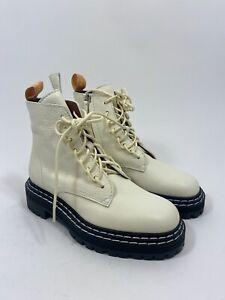 NIB Proenza Schouler Calf Lace Up Boot in Tauris Bianco Size 36.5
