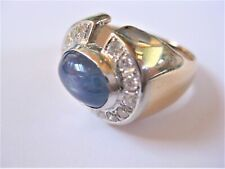 Ring Gold 585 with Sapphire & Diamonds,