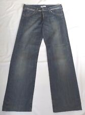 "LADIES LEE WOMAN BLUE FADED DISTRESSED JEANS WAIST 32"" 81cm L31 78cm BUTTON FLY"
