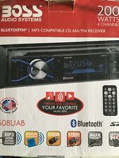 BOSS Audio 508UAB Multimedia Car Stereo – Single Din, Bluetooth Audio and