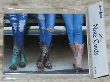 LEANIN TREE Cowgirls, Jeans, Boots #35625~8 Notecards~Colorful Inside~