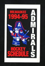 Milwaukee Admirals--1994-95 Pocket Schedule--Pepsi--IHL