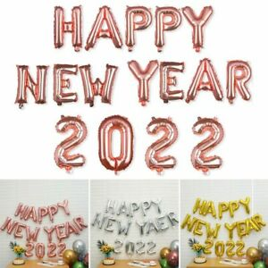 16Inch Party Supplies Happy New Year Xmas Decoration Foil Balloons Happy 2022