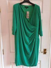BNWT Lorraine Kelly Plain Green Wrap Dress Size 26