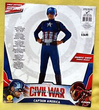 Youth Boy / Girl CIVIL WAR - Captain America Padded Costume Sz L (Age 8-10) NEW