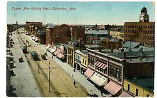 Edmonton Alberta AB -TROLLEY JASPER AVENUE WEST- Postcard