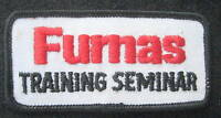 "FUMAS TRAINING SEMINAR EMBROIDERED SEW ON PATCH UNIFORM 3 1/2"" x 1 1/2"""