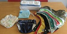 13 Fuzz Bunz Cloth Diapers with Inserts, Cloth Wipes, and Travel Wet Bag