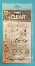 New BEST WISHES - WEDDING Clear Poly Stamps by HERO ARTS