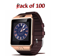 Wholesale DZ09 Smart Bluetooth Watch Phone for Android IOS iPhone 100pcs Gold
