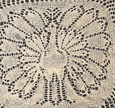 Vintage Knitting PATTERN to make Lace Doily Peacock/Turkey Motif KnitPeacock