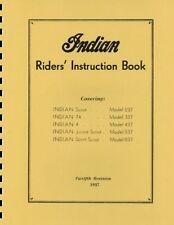 Indian Motorcycle ~ Riders Guide ~ Manual ~ 1937 ~ Reprnt