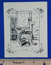 1987 Horse Shoeing Advertising Christmas Card Randell Springville IA