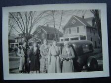 University of Nebraska Kappa Phi Sorority Girls House & Car Photo 1929