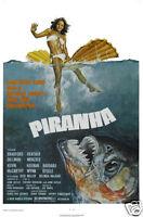 Pirhana Heather Bradford vintage movie poster print